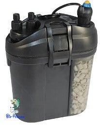 Aquecedores com termóstato integrado em filtro exterior, aquecedores